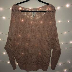Billabong Light Pink Knit Sweater